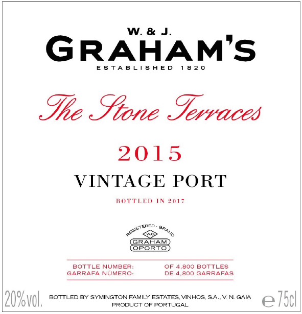 Graham's The Stone Terraces 2015 Vintage Port